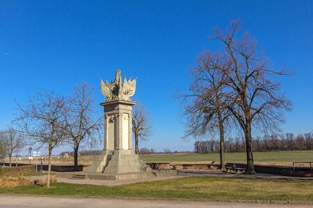Monument in Torgau Stock Photo