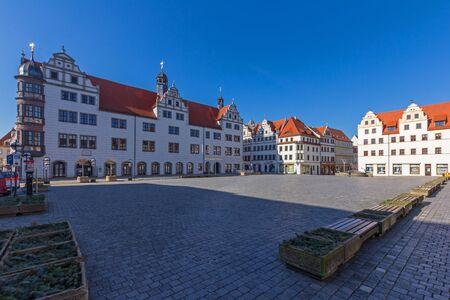 Market square in Torgau Stock Photo