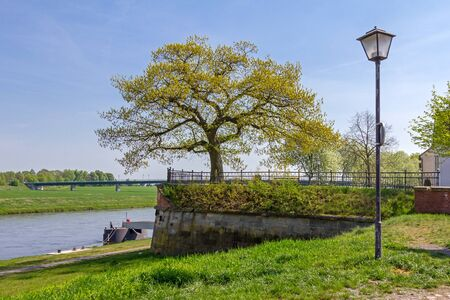 Torgau on the Elbe Stock Photo