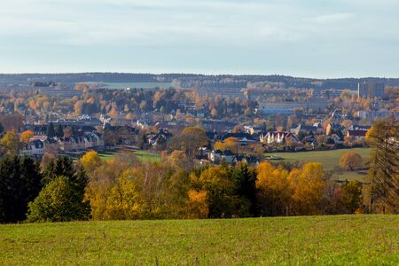 Distant view in the Vogtland Stock Photo