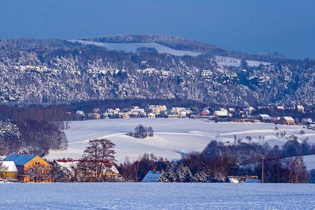 Winter in Wehlen Stock Photo