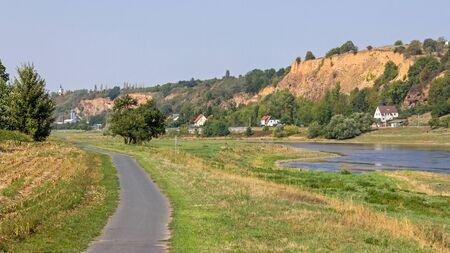 At the Elbe in Seu?litz Stock Photo