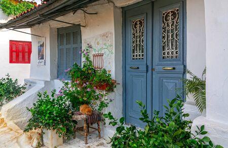 Front door in Athens