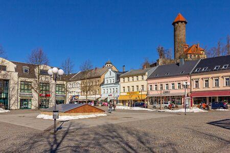 Market in Auerbach Standard-Bild