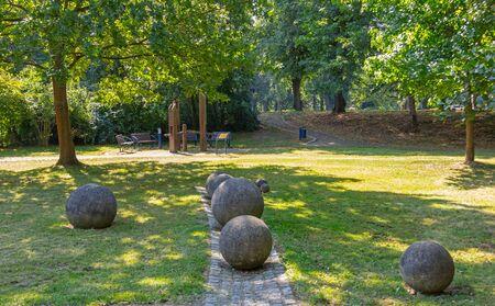 Stone balls in the Bad Liebenwerda park