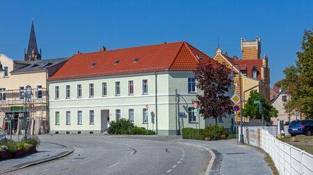 Main street in Bad Liebenwerda Standard-Bild