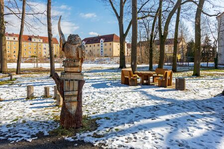 Owl with seating in Bad Liebenwerda