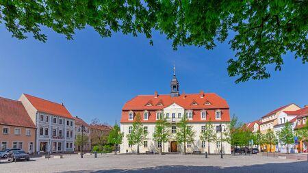 The market place in Bad Liebenwerda Standard-Bild