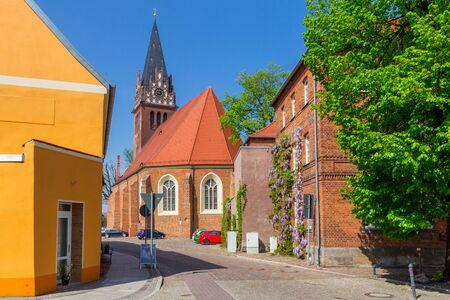 The church on the market Standard-Bild