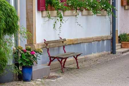 Bench on the wall