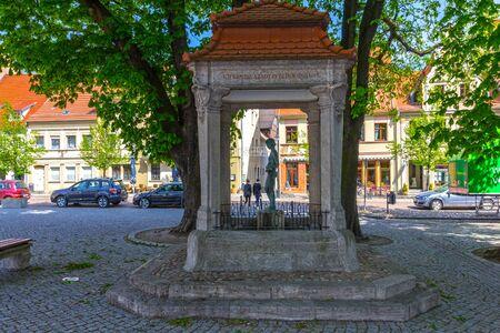 Fountain on the market in Bad Liebenwerda Editorial