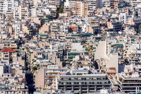 looked over the city of Athens Standard-Bild