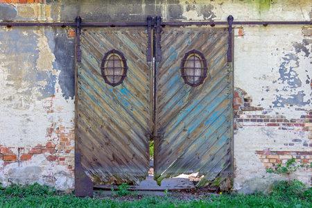 tattered old barn door