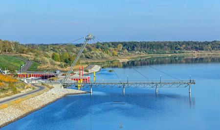 View of the pier in Großräschen Standard-Bild