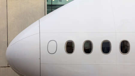 the front part of the plane Standard-Bild