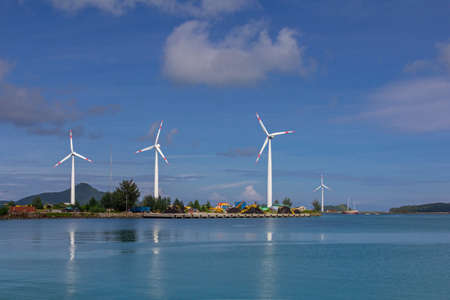Wind turbines in the Seychelles