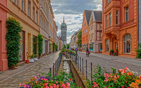 In the center of Wittenberg along the shopping street