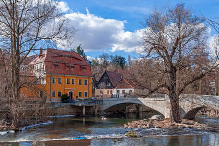 in the old town of Bautzen on the river spree