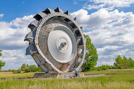 Exhibition of a bucket wheel excavator