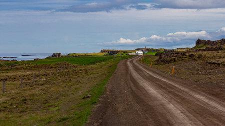 coastal road in Iceland Standard-Bild