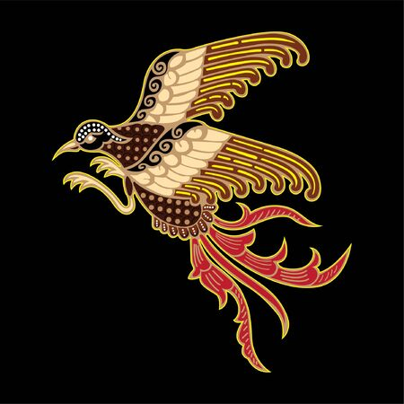 vector illustration of bird batik from Indonesia, used for business or personal needs Illustration