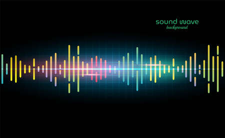 Futuristic Sound Wave Background with Colorful Line