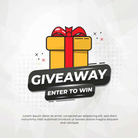 Giveaway Banner Or Poster Template Design