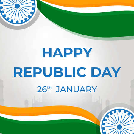 India Republic Day 26 January. Banner Or Background Template For 