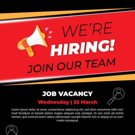 we are hiring job vacancy