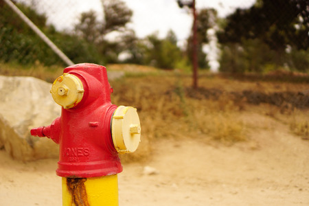 fire hydrant: Fire hydrant next to a hiking trail
