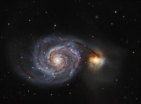 The Whirlpool Galaxy M51 Stock Photo