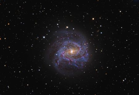 astroimage: The Southern Phinwheel Galaxy M83 Stock Photo