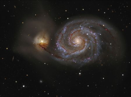 messier: The Whirlpool Galaxy Stock Photo
