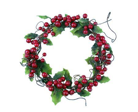 cherry framework of christmas decorations  photo
