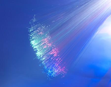 Abstract Internet technology fiber optic background Stock Photo - 8063952