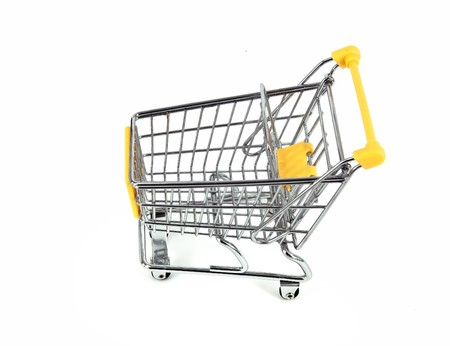 shopping cart over white background Stock Photo - 7524580