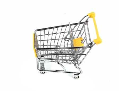shopping cart over white background Stock Photo - 7524580