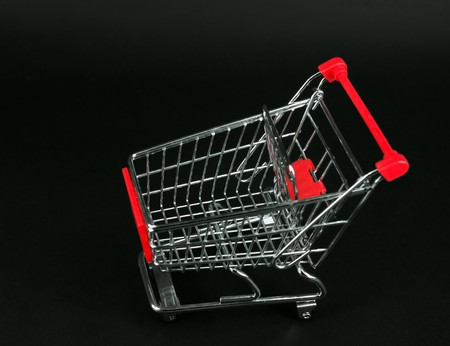 shopping cart over white background  Stock Photo - 7113426