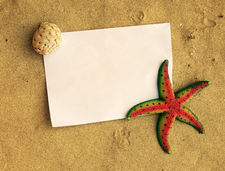 Sea frame with starfishes Stock Photo - 7522263