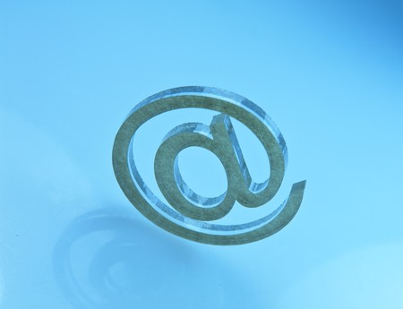 email on blue background  photo