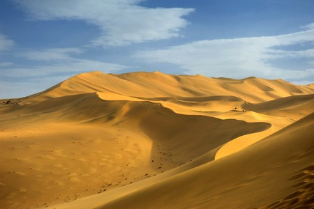 inhospitable: moroccan desert dune