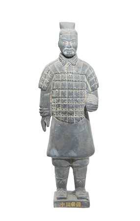 terracotta: terracotta army figure in china