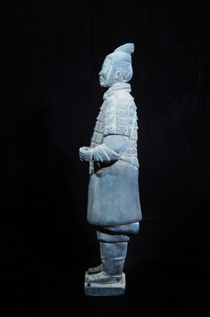 huang: terracotta army figure in china