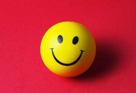Glücklicher Smiley Standard-Bild