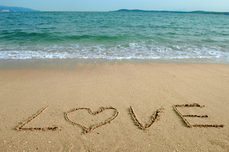 Love in the sand Stock Photo - 8225307