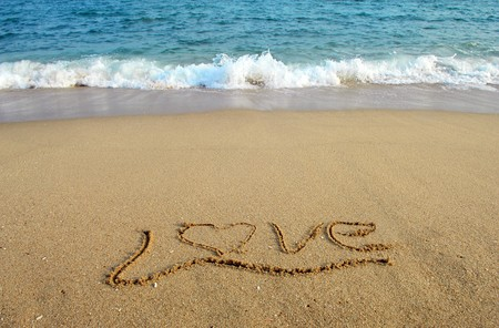 Love in the sand  Stock Photo - 8225324