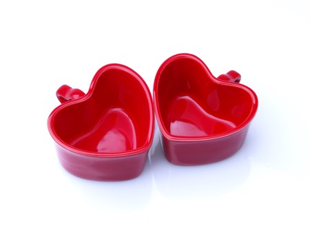 heart shaped cups  photo