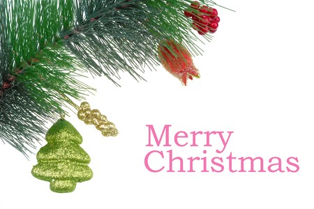 Christmas gift with white background  photo