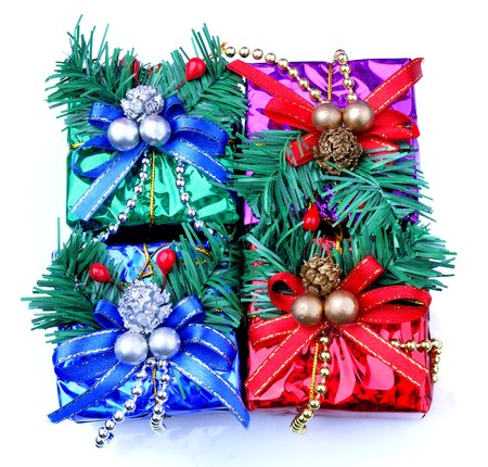 Christmas gift with white background Stock Photo - 8201438