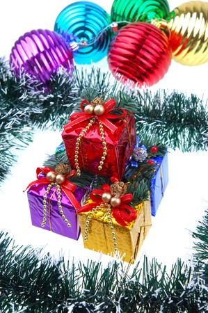 Christmas gift with white background Stock Photo - 8141882